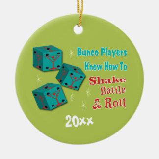 Bunco - Shake, Rattle & Roll Martini Dice Ornament