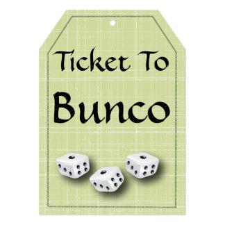 Bunco Ticket Invitation