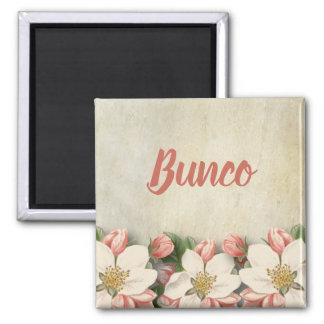 Bunco Vintage Flower Elegant Pretty Garden Magnet