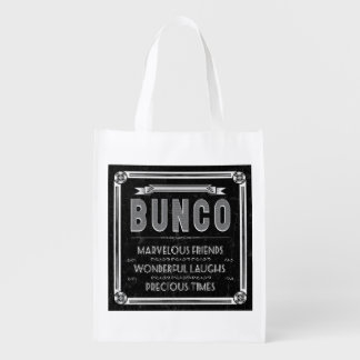 Bunco Vintage Typography Grocery Bags
