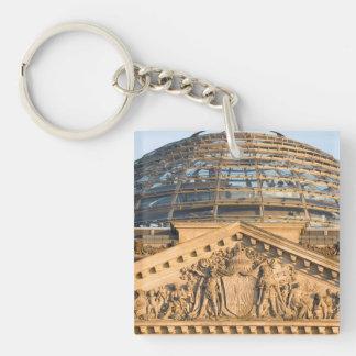 Bundestag Berlin Single-Sided Square Acrylic Keychain