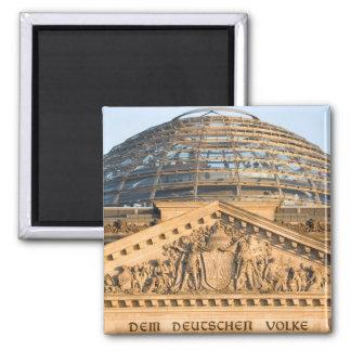 Bundestag Berlin Square Magnet