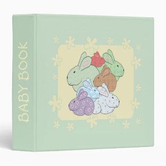 Bundle of Bunnies Baby Book Binder Scrapbook