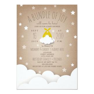Bundle of Joy Clouds + Stars Baby Shower Card