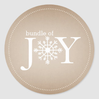 Bundle of Joy Neutral Snowflake Baby Sticker