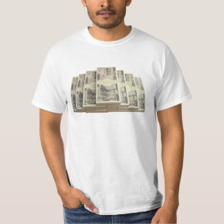 Bundle of notes of 10,000 Yen paper currency T-Shirt