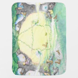 Bundles among the Fairy Ring Baby Blanket