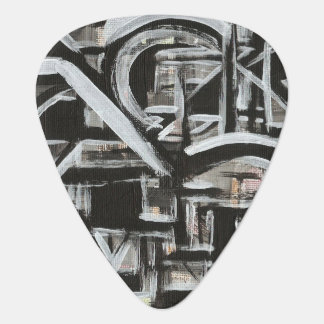Bungalow-Hand Painted Abstract Brushstrokes Guitar Pick