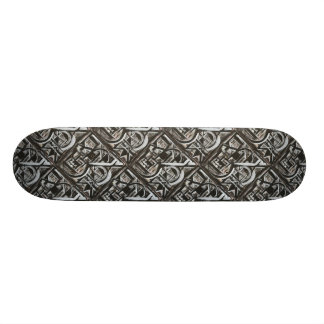 Bungalow-Hand Painted Abstract Brushstrokes Skateboard Deck