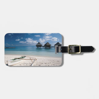 Bungalows from beach Motu Toopua Luggage Tag