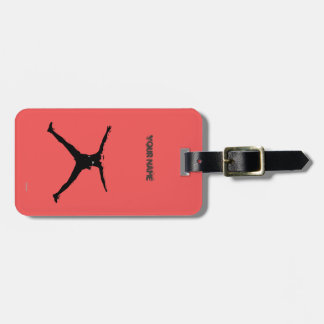 Bungee jumping luggage tag