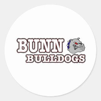 Bunn Bulldogs Round Sticker