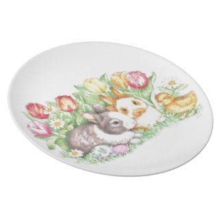 Bunnies and Chick Plate