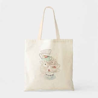 Bunnies and Tea tote