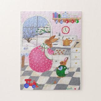 bunnies baking cookies puzzle