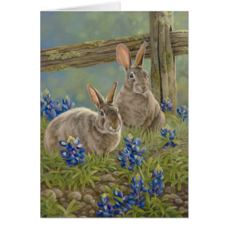 Bunnies & Bluebonnets Card