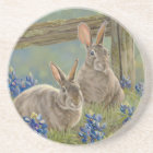 Bunnies & Bluebonnets Coaster