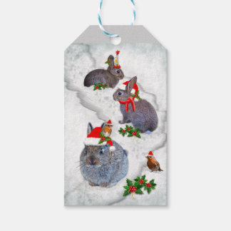 Bunnies' Christmas Party Gift Tags