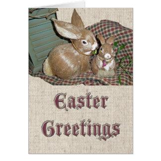 Bunnies Easter Greetings Card