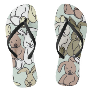 bunnies flip flops