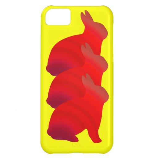 Bunnies galore. iPhone 5C cases
