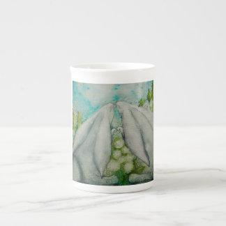 Bunnies in love tea cup