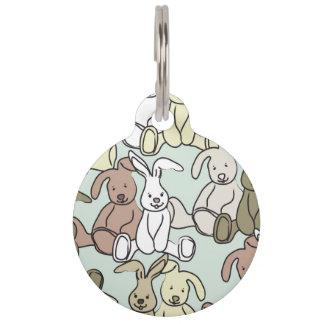 bunnies pet ID tag