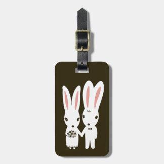 Bunnies Wedding Couple - Cute Bride and Groom Luggage Tag
