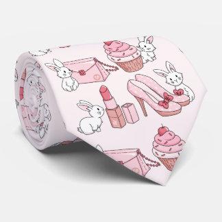 Bunnies with pink stuff tie