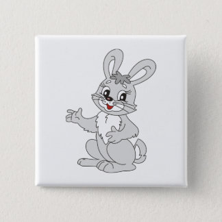 Bunny 2 Inch Square Button
