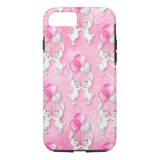 Bunny and balloons. Pink iPhone 8/7 Case
