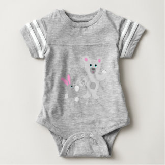 Bunny and Bear Team mates Baby Bodysuit