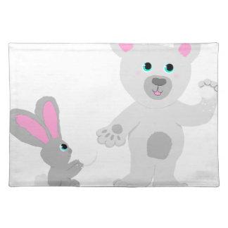 Bunny and Bear Team mates Placemat