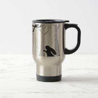 Bunny and Bird Travel Mug