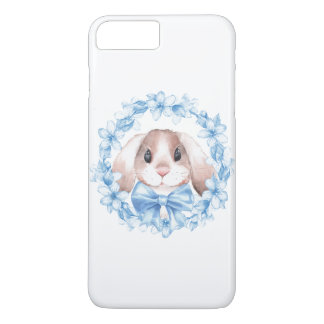 Bunny and blue wreath iPhone 8 plus/7 plus case