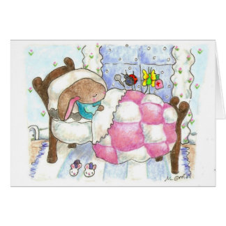 bunny and bugs get well card