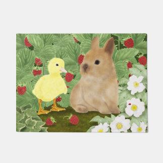 Bunny and Duckling Doormat