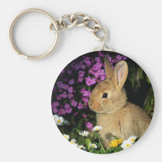 Bunny and flowers keychain