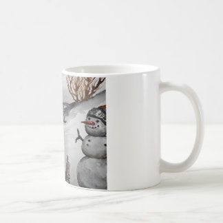 Bunny and Snowman winter mug