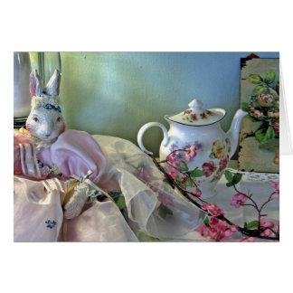 Bunny And Teapot Card