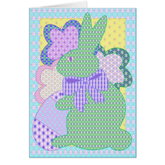 Bunny applique card I