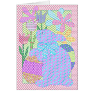 Bunny applique card III