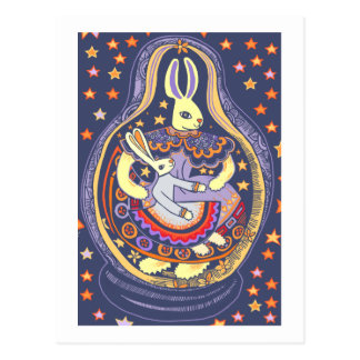 Bunny Babooshka Postcard