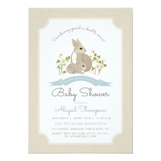 Bunny Baby Shower Invite