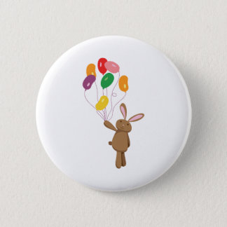 Bunny Balloons 2 Inch Round Button