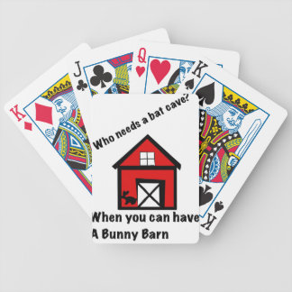 Bunny barn bicycle playing cards