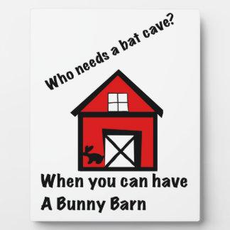 Bunny barn plaque