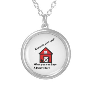 Bunny barn silver plated necklace
