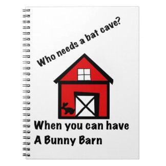 Bunny barn spiral notebook
