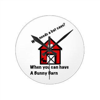 Bunny barn wallclocks